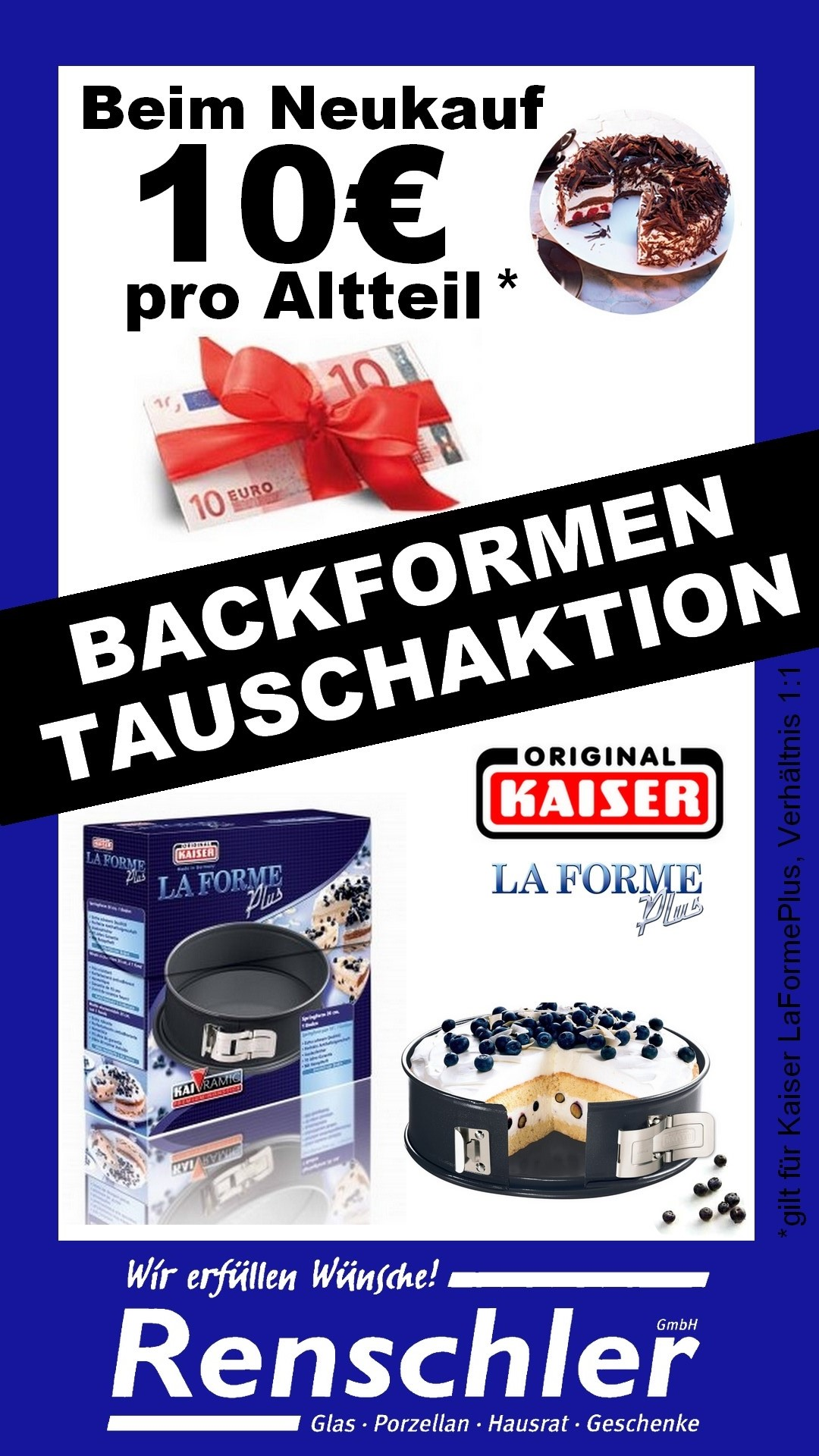1 Tauschaktion Backform